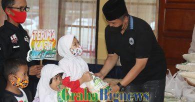 Kapolres Garut  Santuni Anak Yatim Piatu, Bersama ACT, MRI Jelang Akhir Ramadhan